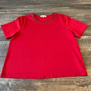 🌻$3/20 red shirt  size 14-16 Tradition
